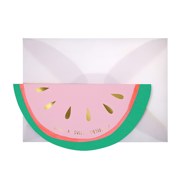 Meri Meri Watermelon Birthday Card - Le Papillon Gallery