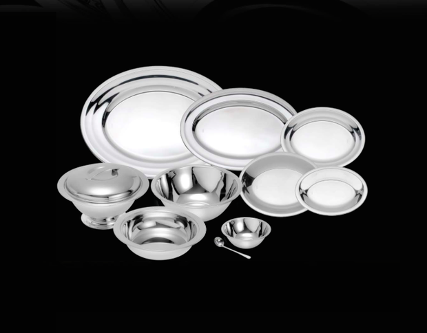 Wolff Stainless Steel Veneza Set Oval Platters (5 pieces)