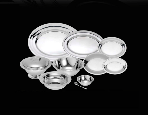 Stainless Steel Veneza Table Set (10 pieces)