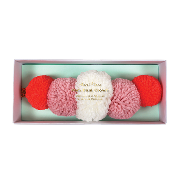Meri Meri Yarn Pom Pom Crown - Le Papillon Gallery