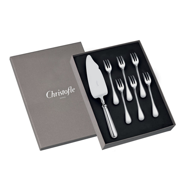 ALBI Gift box of 6 Cake Fork and 1 Cake/Pie Server - Le Papillon Gallery