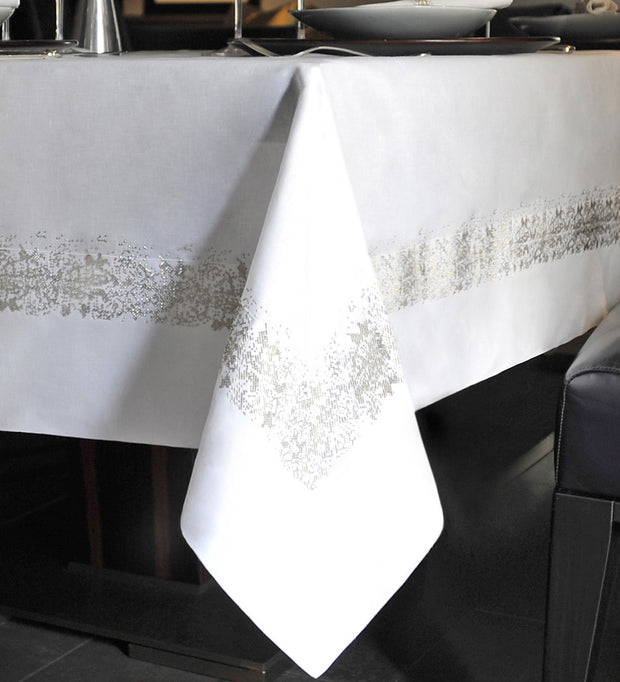 Claudia Barbari Astrale Tablecloth White/CB Gold