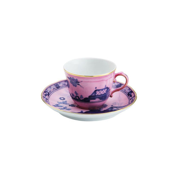 Richard Ginori Oriente Italiano Azalea coffee cup and saucer - Le Papillon Gallery