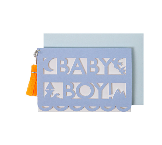 Meri Meri Baby Boy Cut Out Enclosure - Le Papillon Gallery