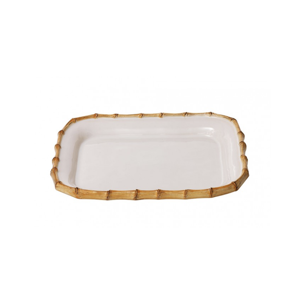 Juliska Classic Bamboo Natural Rectangular Platter