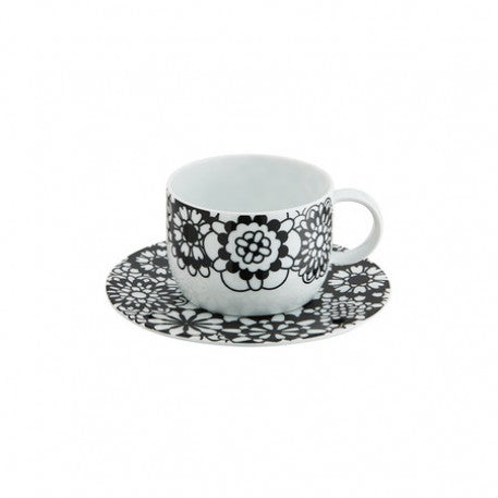 Missoni Bianconero Teacup and Saucer - Le Papillon Gallery