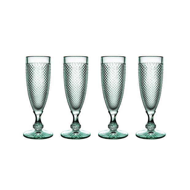 Vista Alegre Bicos Acqua Flutes (set of 4) - Le Papillon Gallery