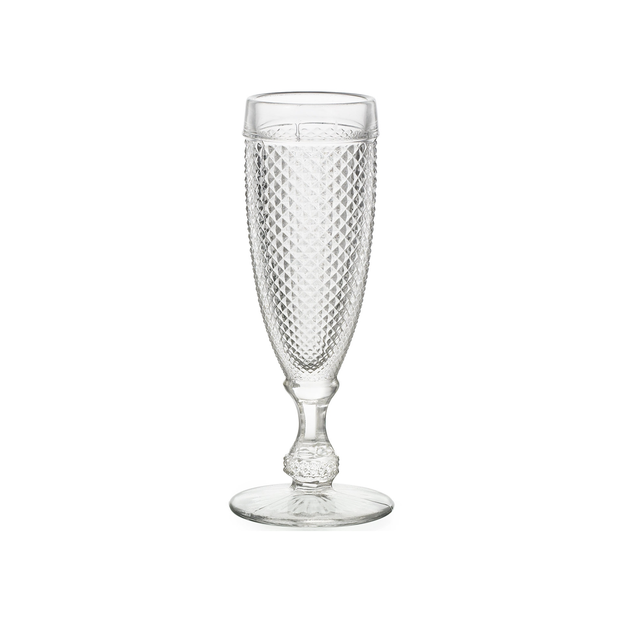 Vista Alegre Bicos Clear Flutes (set of 4) - Le Papillon Gallery