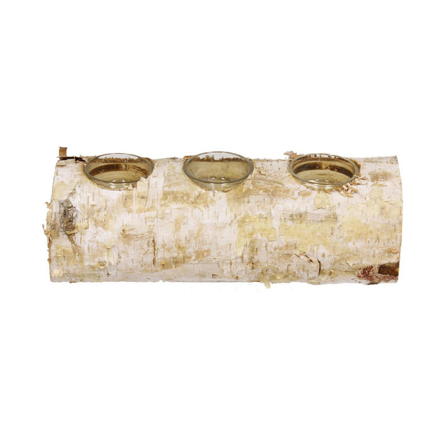 Birch Log Votive - Le Papillon Gallery
