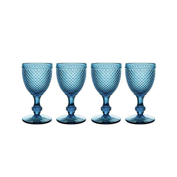 Vista Alegre Bicos Blue Water Goblets (set of 4)
