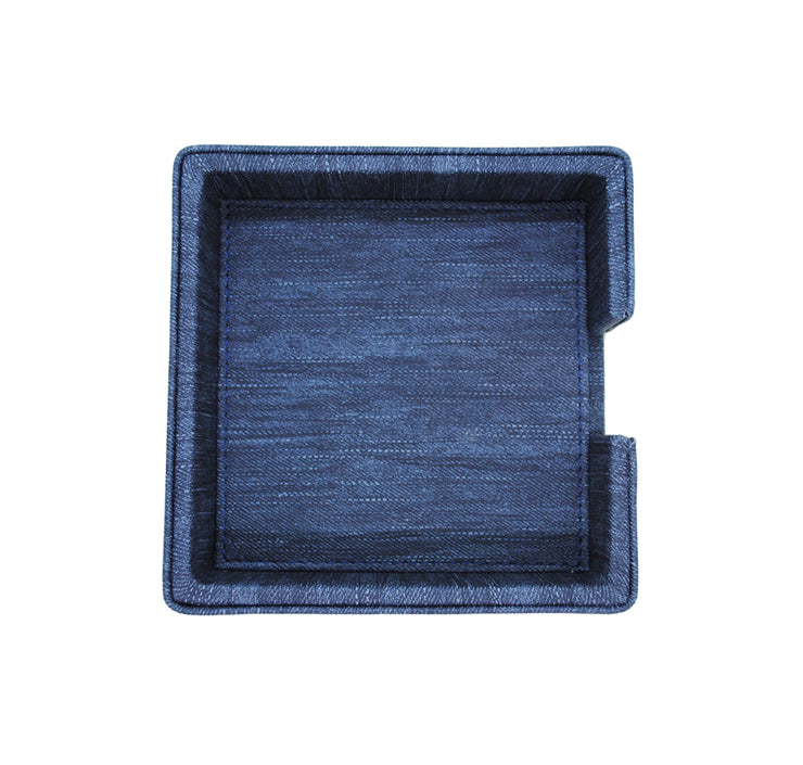 Arte Pelle Large Napkin Holder - Blue