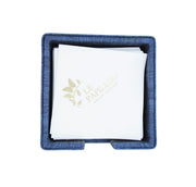Arte Pelle Large Napkin Holder - Blue - Le Papillon Gallery