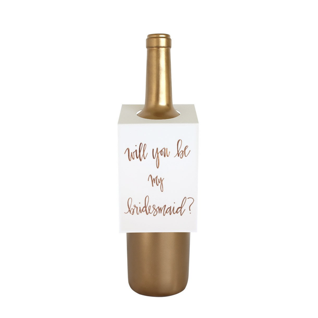 Chez Gagne Wine Tags Bridesmaid