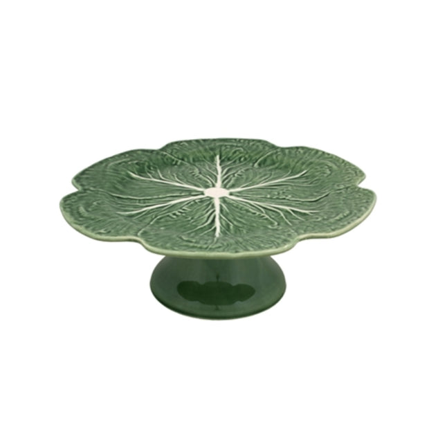 Bordallo Pinheiro Cabbage Cake Stand Green