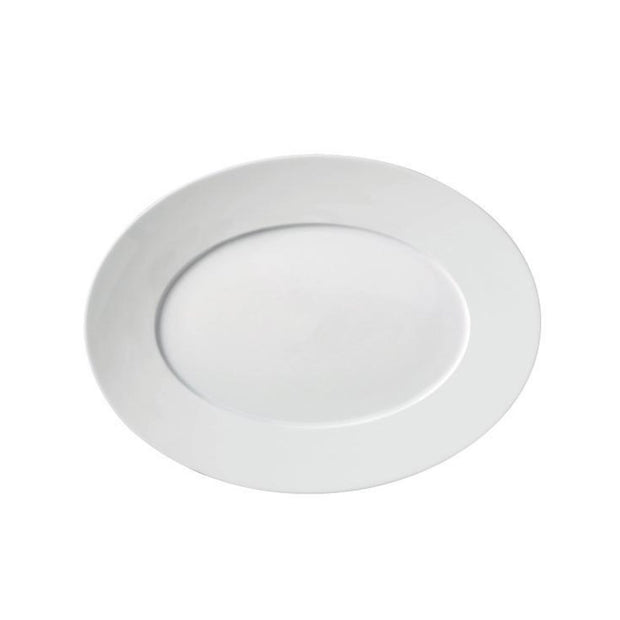 Carlo White Oval Platter - Le Papillon Gallery