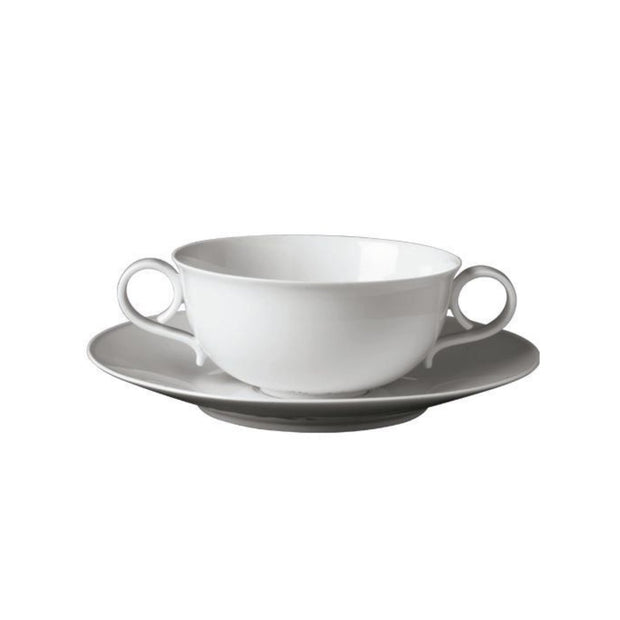 Carlo White Soup Cup & Saucer