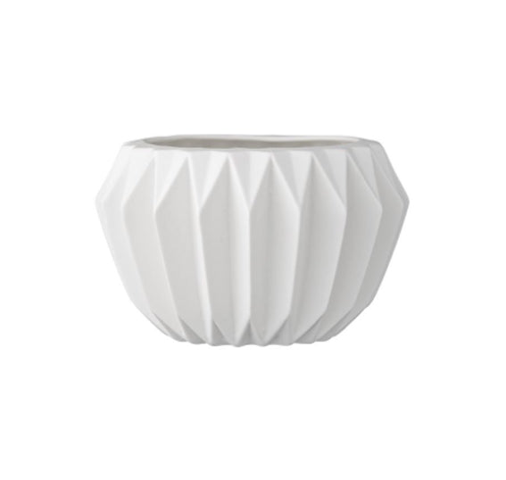 Bloomingville Ceramic Rounded White Vase - Le Papillon Gallery