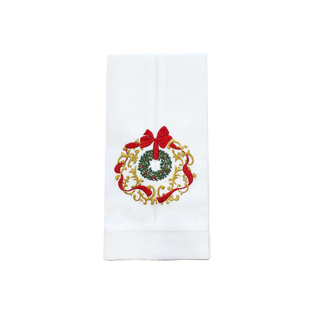 Christmas Crown with Gold Bath Hand Towels - Le Papillon Gallery