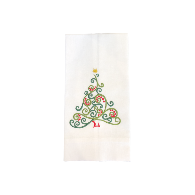 Christmas tree green Bath Hand Towels