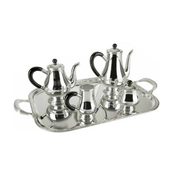 COFFEE AND TEA SET WITH PEARL BORDER - Le Papillon Gallery