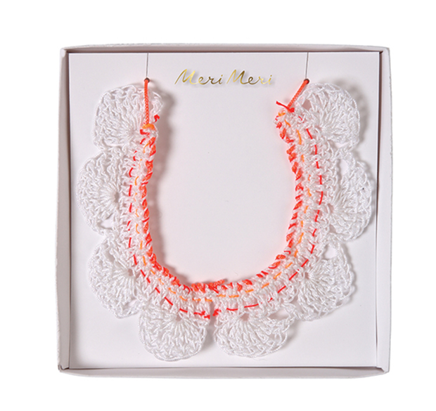 Meri Meri Crochet Collar Necklace - Le Papillon Gallery
