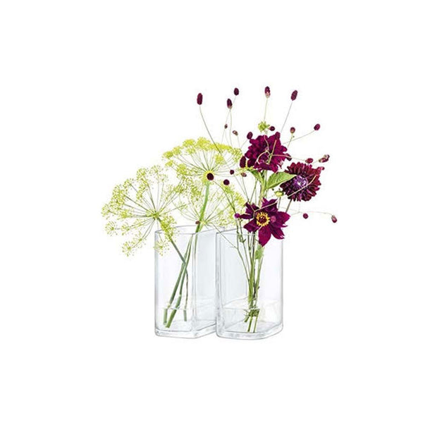 Echo Vase Set H7.5in Clear X 2 - Le Papillon Gallery