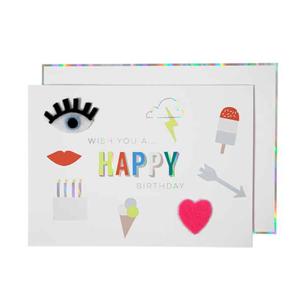 Meri Meri Felt Icons Birthday Card - Le Papillon Gallery