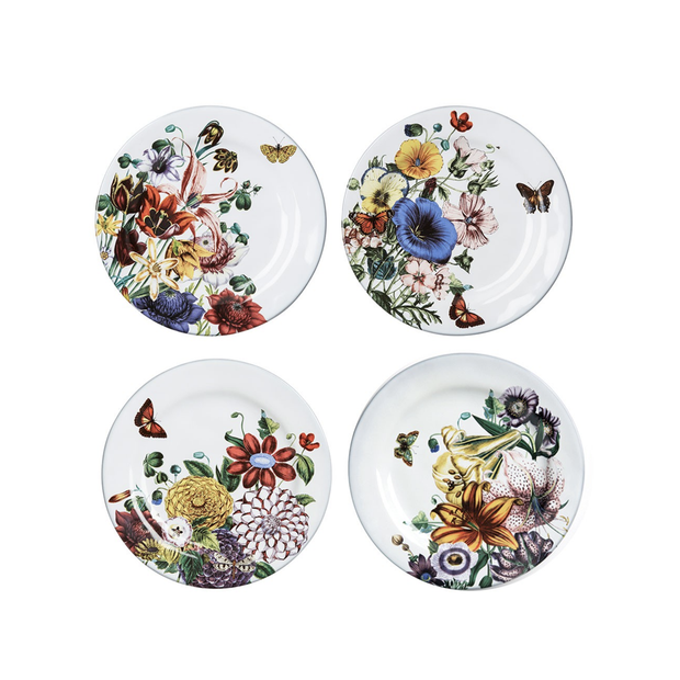 Juliska Flowers White Truffle Party Plate (set of 4) - Le Papillon Gallery