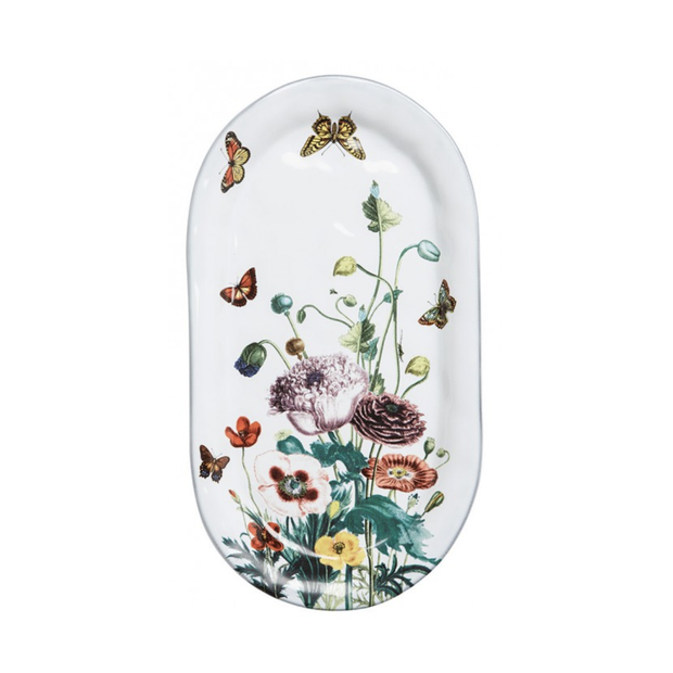 Juliska Flowers White Truffle Poppies Hostess Tray - Le Papillon Gallery