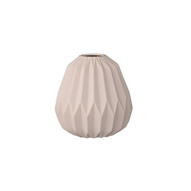 Bloomingville Ceramic Fluted Pink Vase