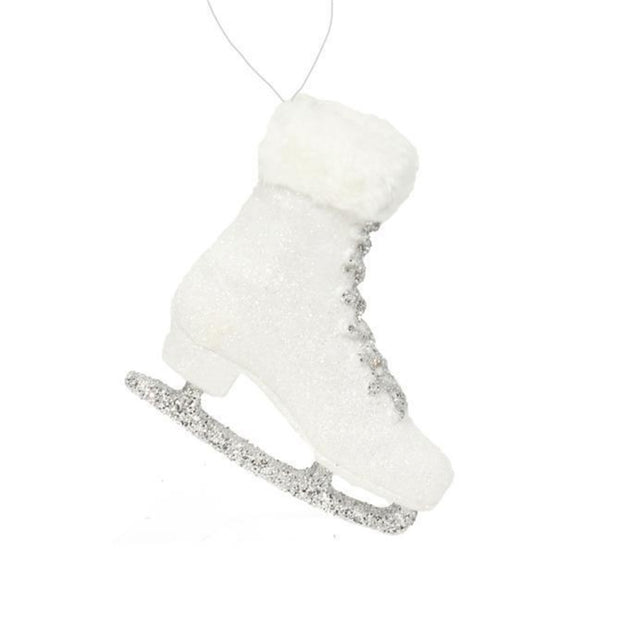 Glitter Skate with fur Ornament