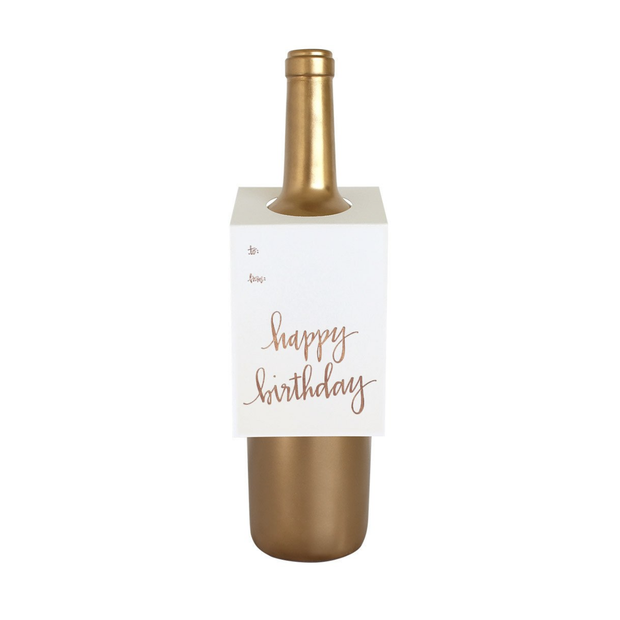 Chez Gagne Wine Tags Happy Birthday - Le Papillon Gallery