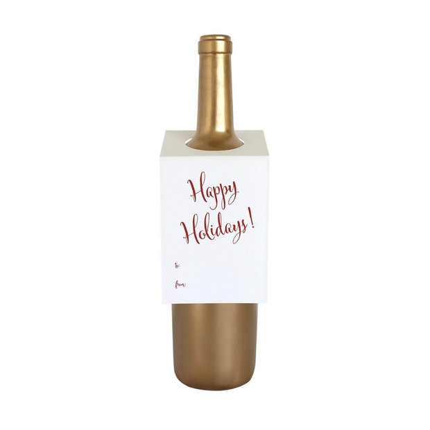 Chez Gagne Wine Tags Happy Holidays