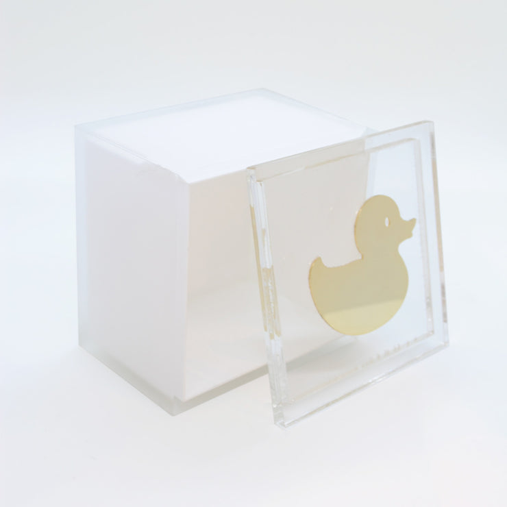 "Intersilver ""The Duck"" 9x9 Baby Bliss Keepsake Box"