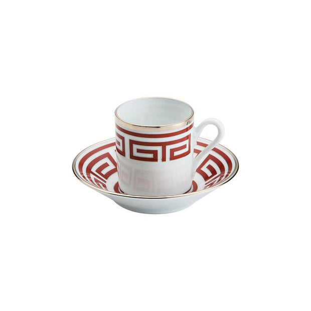 Laberinto Scarlatto Coffee Cup Saucer - Le Papillon Gallery