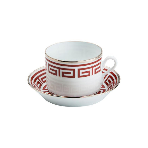 Richard Ginori Laberinto Scarlatto Tea Cup Saucer - Le Papillon Gallery