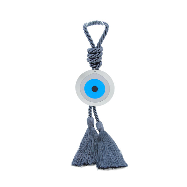 Intersilver Long Turquoise Plexi Eye - Grey