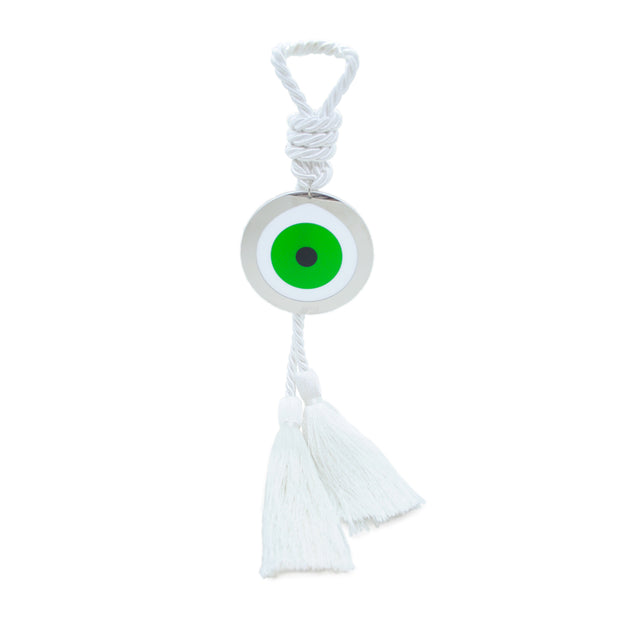 Intersilver Long Green Nature Plexi Eye - White - Le Papillon Gallery