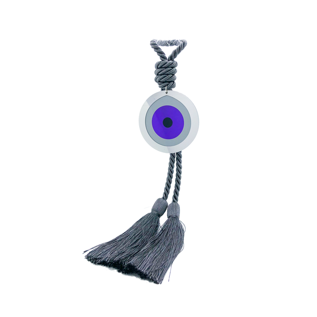 Intersilver Long Amethyst Plexi Eye - Grey - Le Papillon Gallery