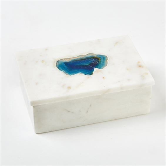 Two's Company Marble Rectangular Box Lapis Big
