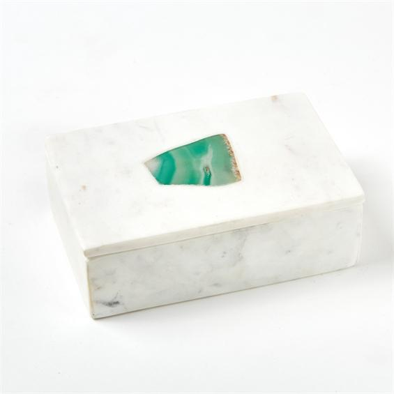 Marble Rectangular Box Green Big