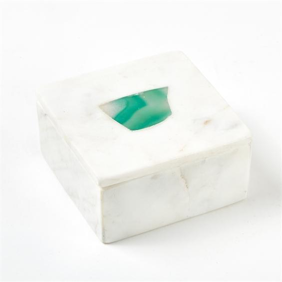 Marble Rectangular Box Green Small