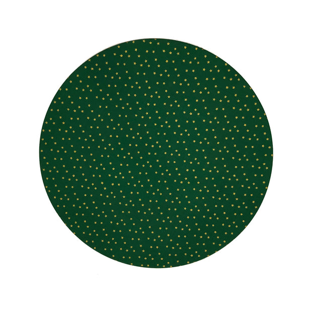 Green and gold starts placemat - Le Papillon Gallery