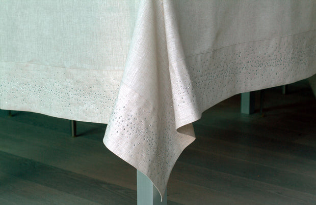 Claudia Barbari Metal Tablecloth White/Light Gold - Le Papillon Gallery