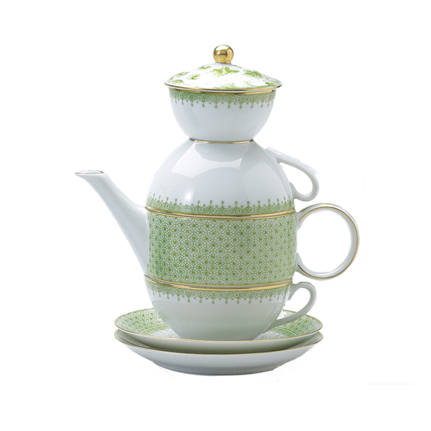 Mottahedeh Green Tea Set - Le Papillon Gallery