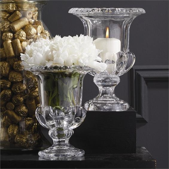 Neoclassical Holder/Vase Glass
