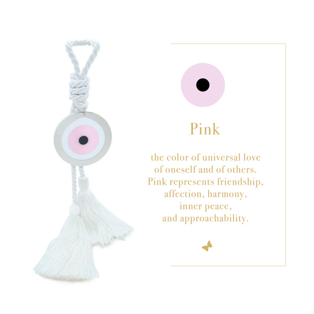 Intersilver Long Pink Blossom Plexi Eye - White - Le Papillon Gallery