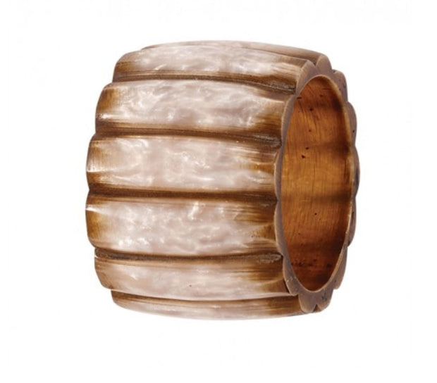 Pearlized Fence Napkin Ring - Le Papillon Gallery