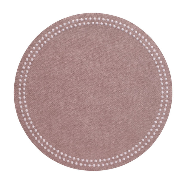 Pearls Mauve Rose Placemat - Le Papillon Gallery