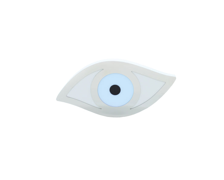 Intersilver Baby blue Plexiglass Evil Eye
